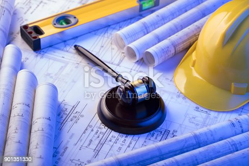 istock Labor and construction law. 901351330