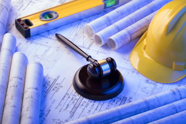 Labor and construction law. stock photo