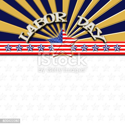 istock Labor Day, American Flag designed Stars, 5 pointed stars with the the Amarican Blue, Red and white, Stars and stripes, isolated against the white background. 820422282