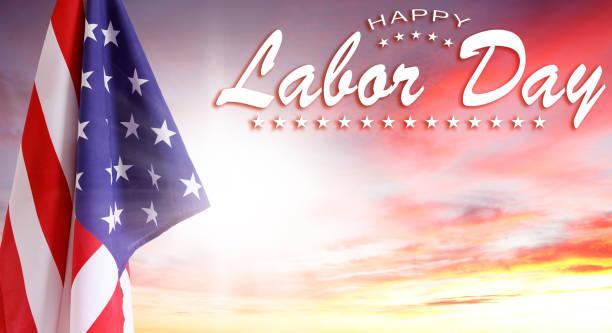 Labor Day amerikanische Flagge – Foto