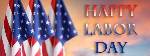 bandeiras americanas do dia do trabalho - dia do trabalhador - fotografias e filmes do acervo