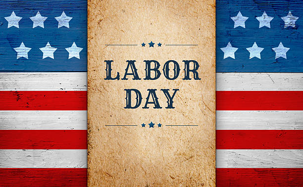 Labor Day background stock photo