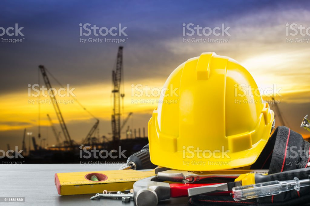 Labor day concept with background Labor day tools and equipment stock photo