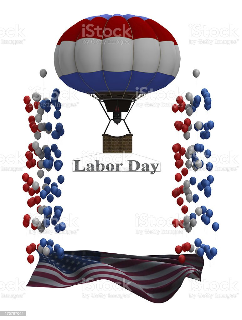 Labor Day Graphic royalty-free stock photo