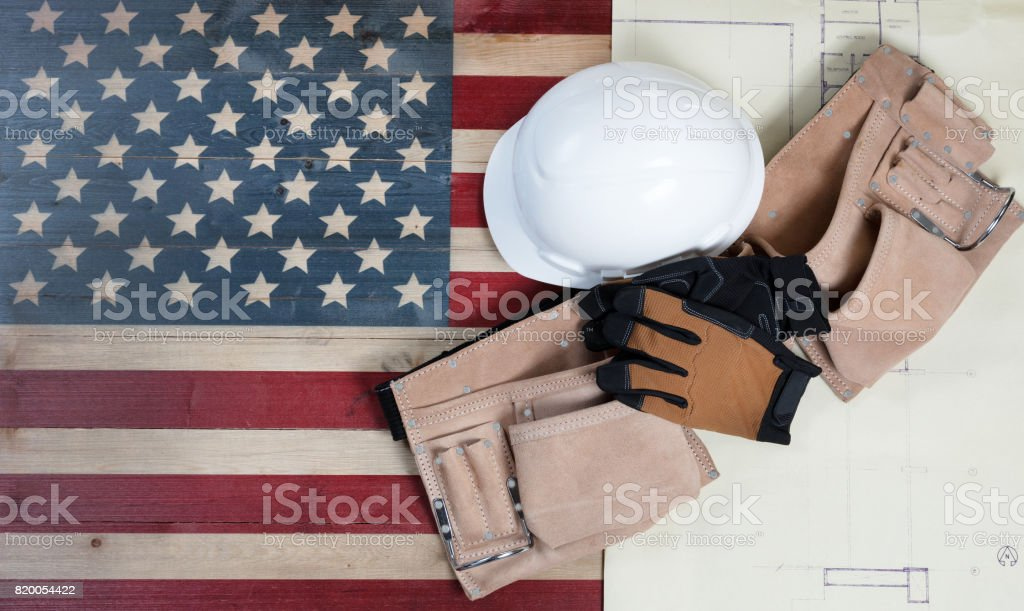 Labor Day holiday for United States of America stock photo