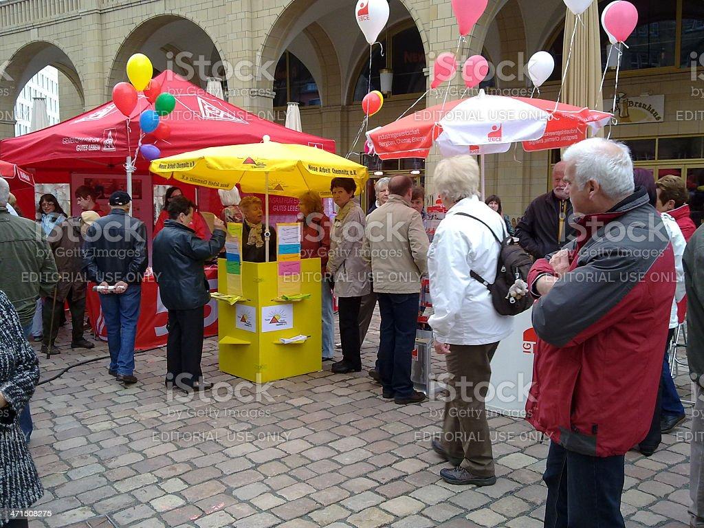 Labor Day in Chemnitz, Germany royalty-free stock photo