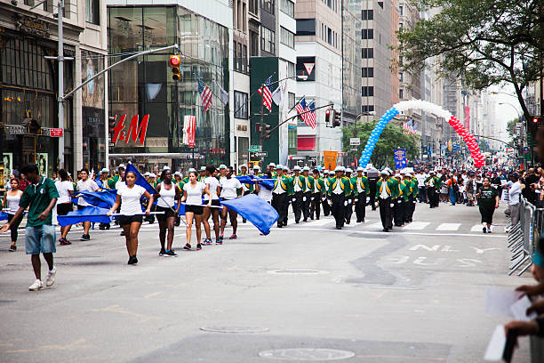 Labor Day Parade in New York City stock photo