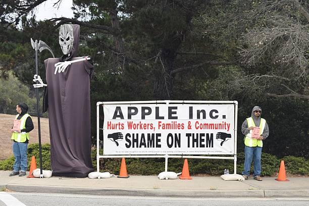 Labor Dispute Apple Inc. stock photo
