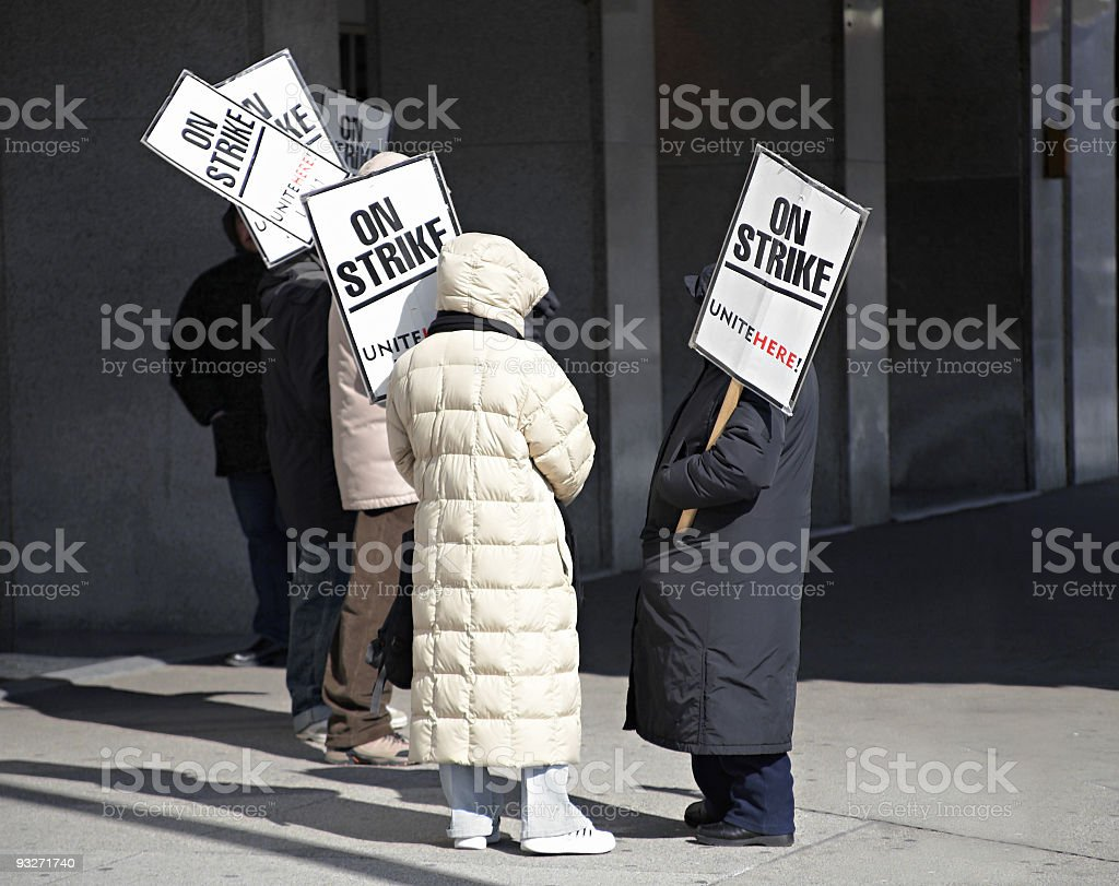 Labor Dispute stock photo