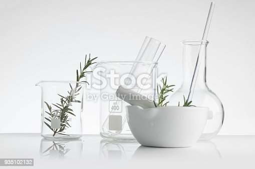 istock laboratory and research with alternative herb medicine natural skin care 935102132