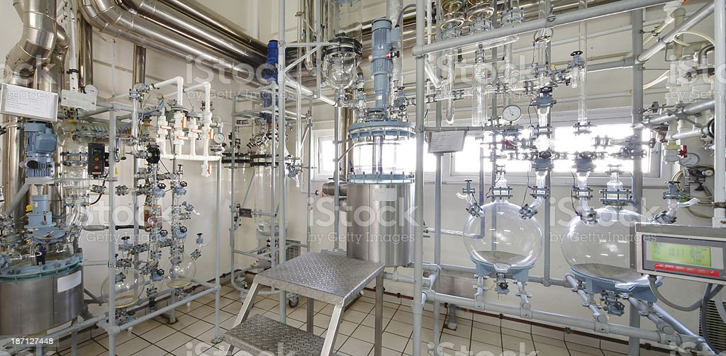 Laboratory apparatus for water purification royalty-free stock photo