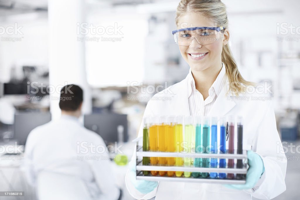 Laboratory assistant royalty-free stock photo