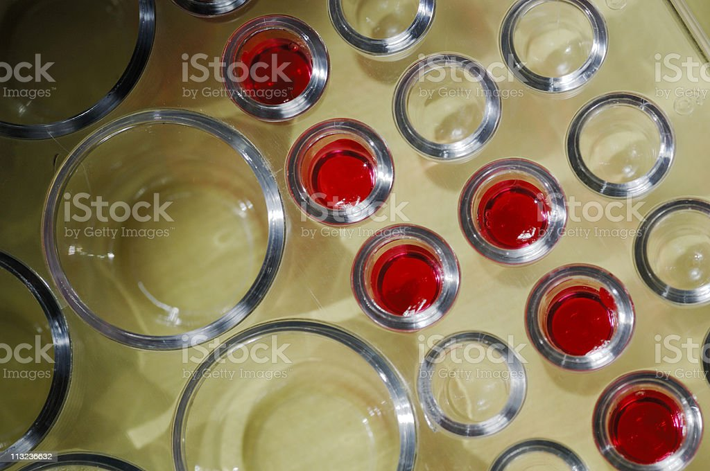 laboratory blood test in micro dish scene royalty-free stock photo