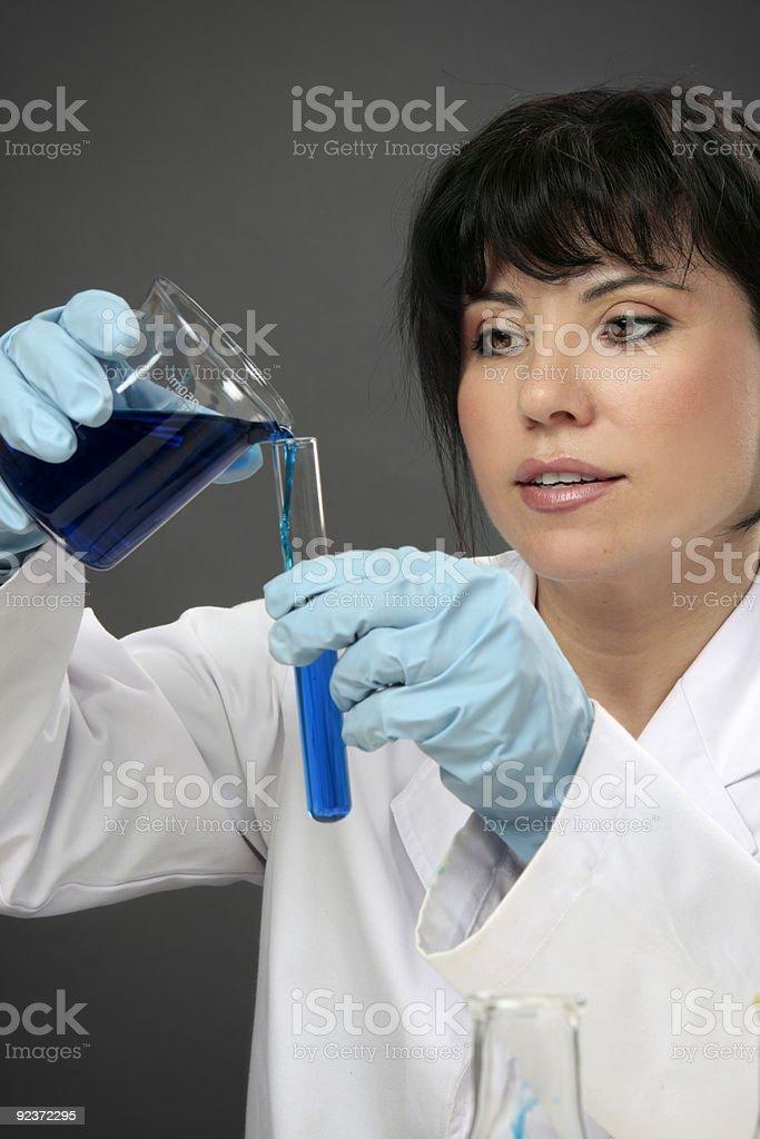 Laboratory chemist at work royalty-free stock photo