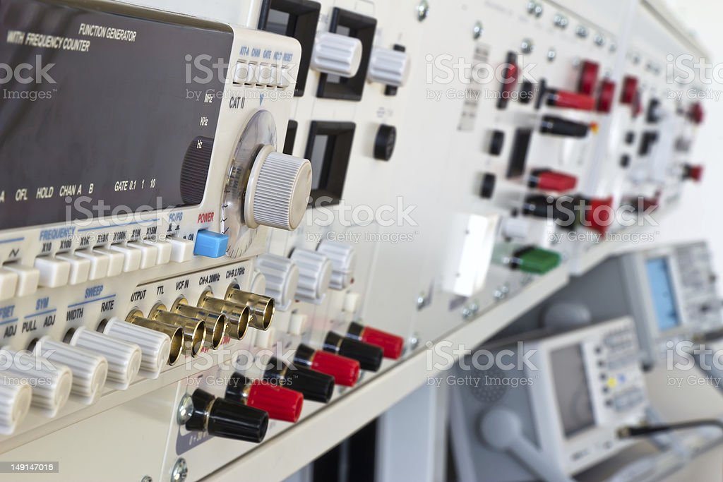 laboratory electric measurement apparatus and measuring instruments royalty-free stock photo