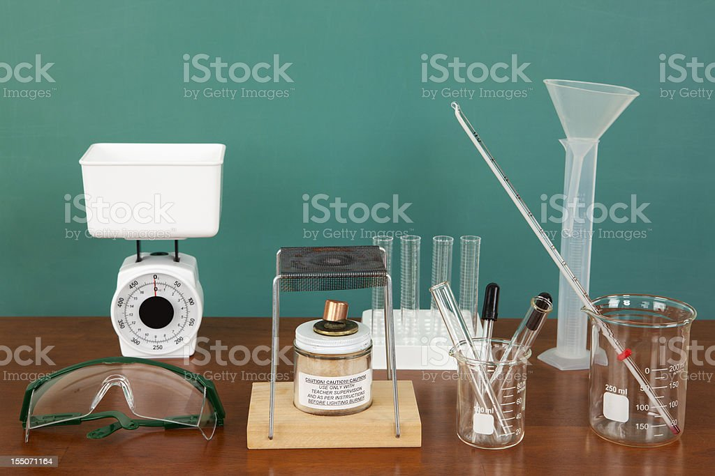 Laboratory Equipment in Classroom stock photo