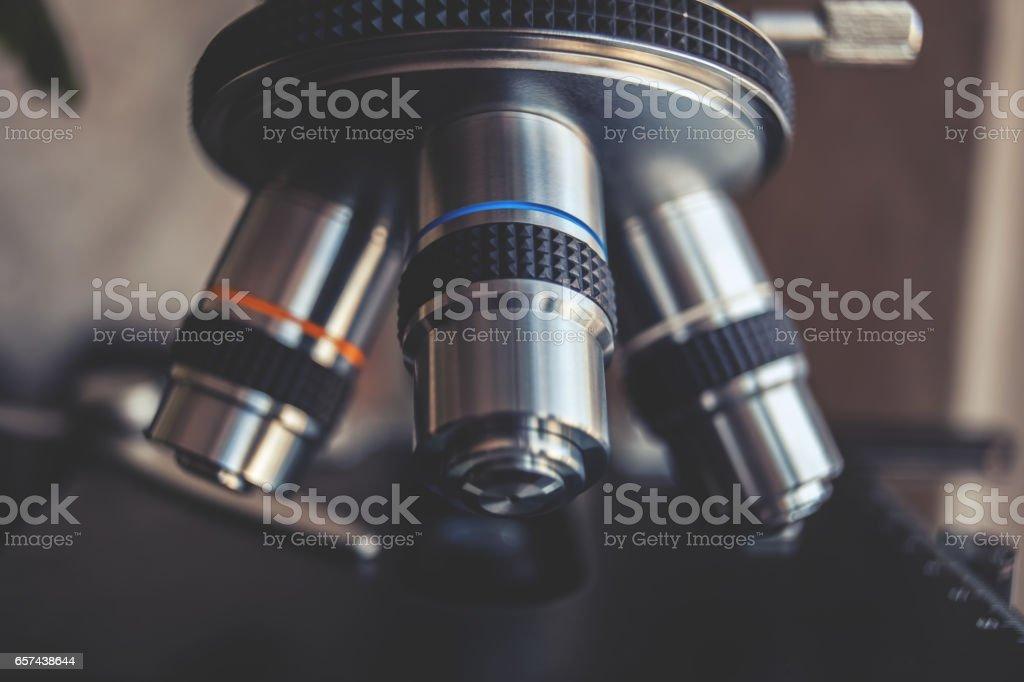 Laboratory Equipment - Optical Microscope stock photo