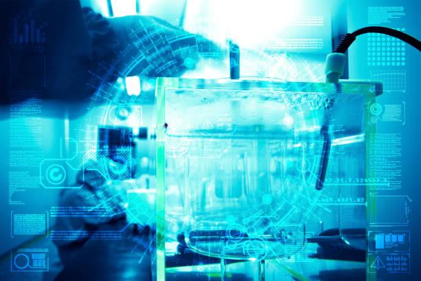 Laborgeräte für die Sterilisation Ai arbeiten – Foto