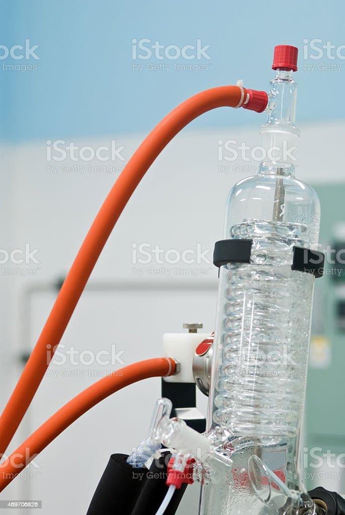 Laboratory evaporator stock photo