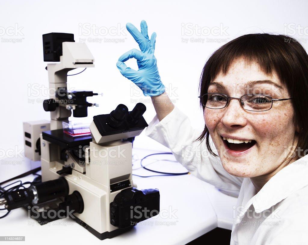 Laboratory geek royalty-free stock photo