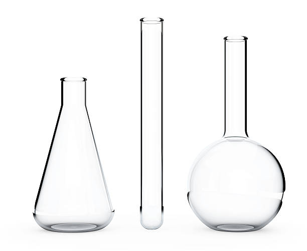 Laboratory Glassware.  Chemical Flasks. 3d Rendering 스톡 사진