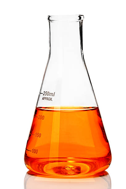 laboratory glassware - flask stock photos and pictures