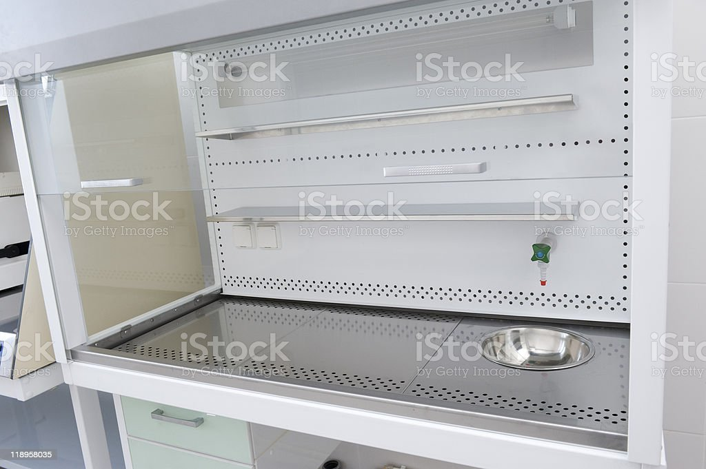 Laboratory hood stock photo