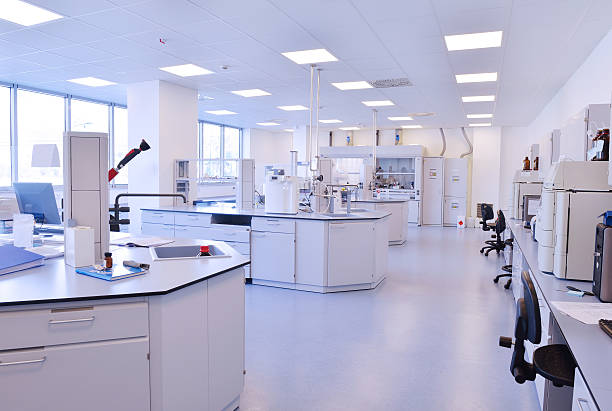 laboratory indoor stock photo