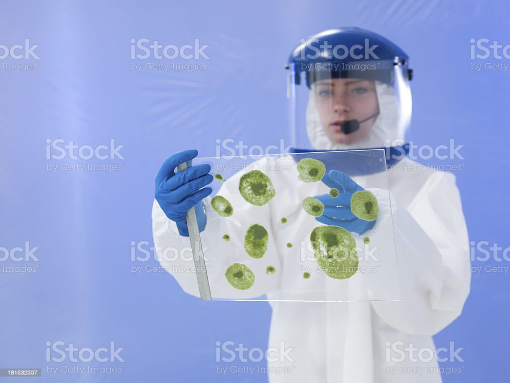 laboratory investigation royalty-free stock photo
