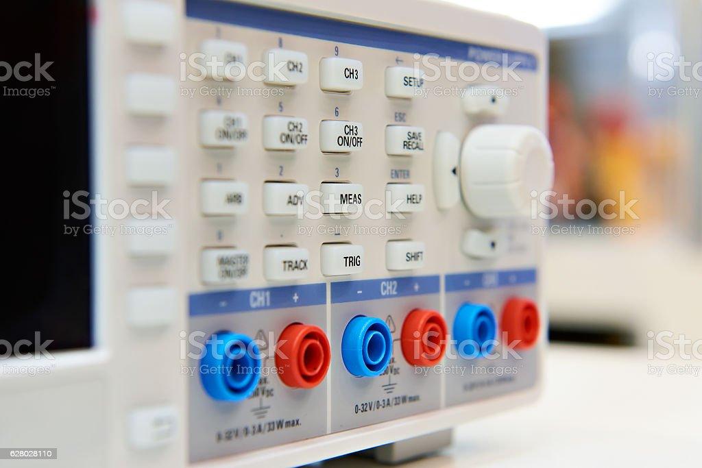 Laboratory linear DC power supply stock photo