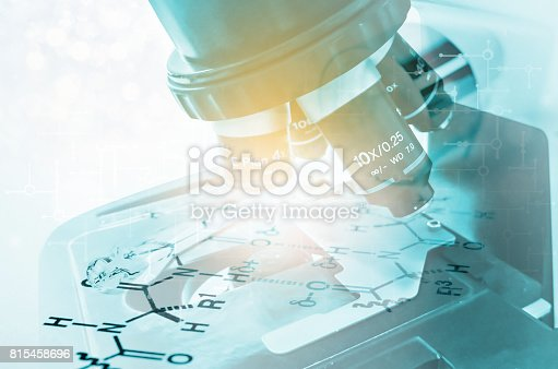 istock Laboratory Microscope. Scientific and healthcare research 815458696