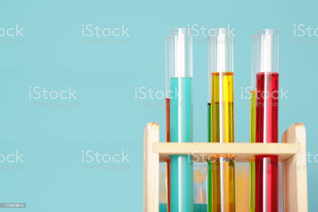 Laboratory over blue background royalty-free stock photo