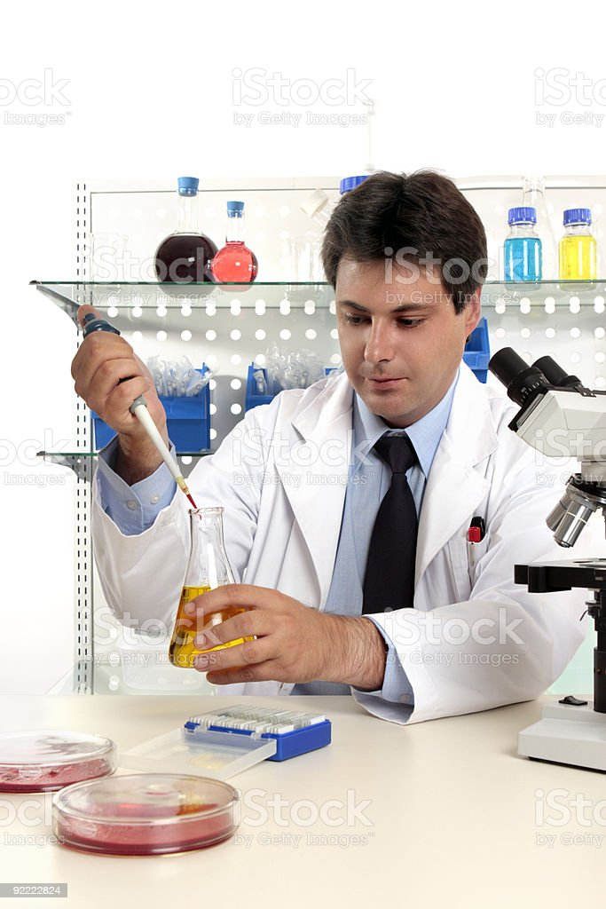 Laboratory pharmaceutical research royalty-free stock photo