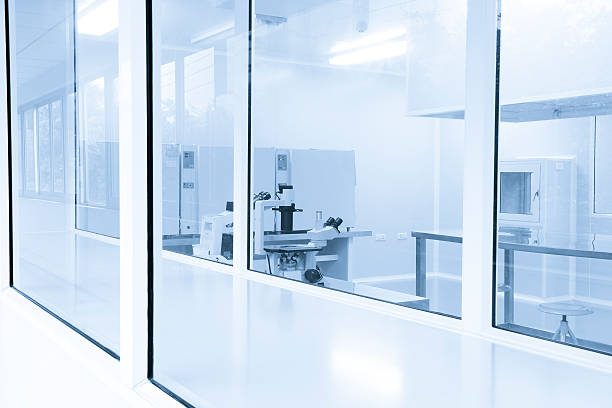 laboratory Pharmaceutical Factory Laboratory equipment in clean room,real place cleanroom stock pictures, royalty-free photos & images