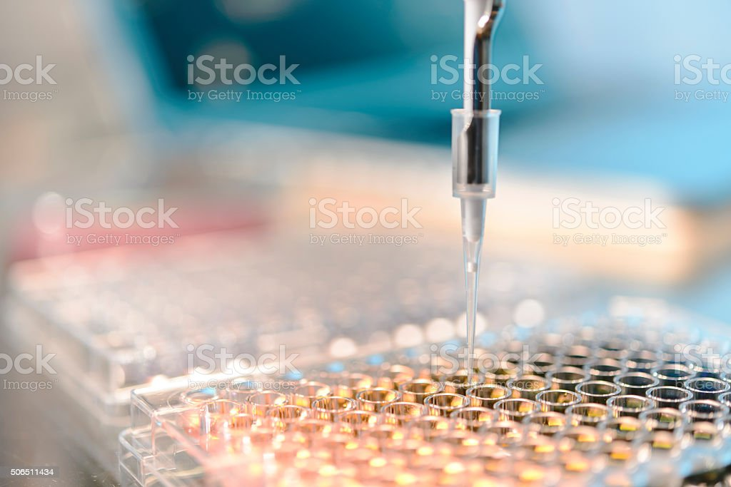 Análisis de laboratorio - foto de stock