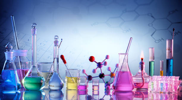 laboratory research - flask stock photos and pictures