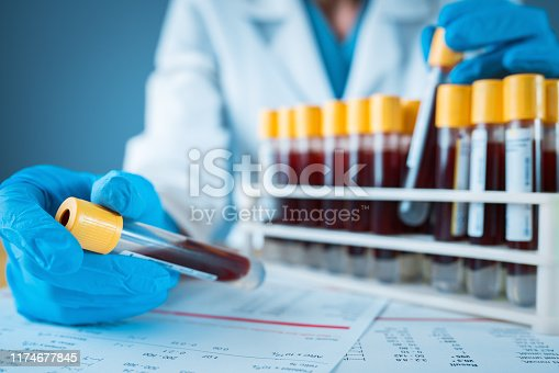 Blood Test, Blood, Medical Sample, Test Tube