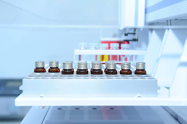 Laboratory samples ready for analysis Laboratory samples ready for analysis pap smear stock pictures, royalty-free photos & images
