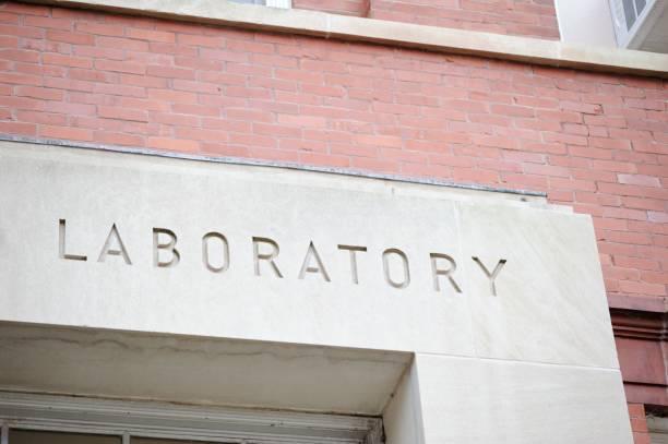 Laboratory sign stock photo