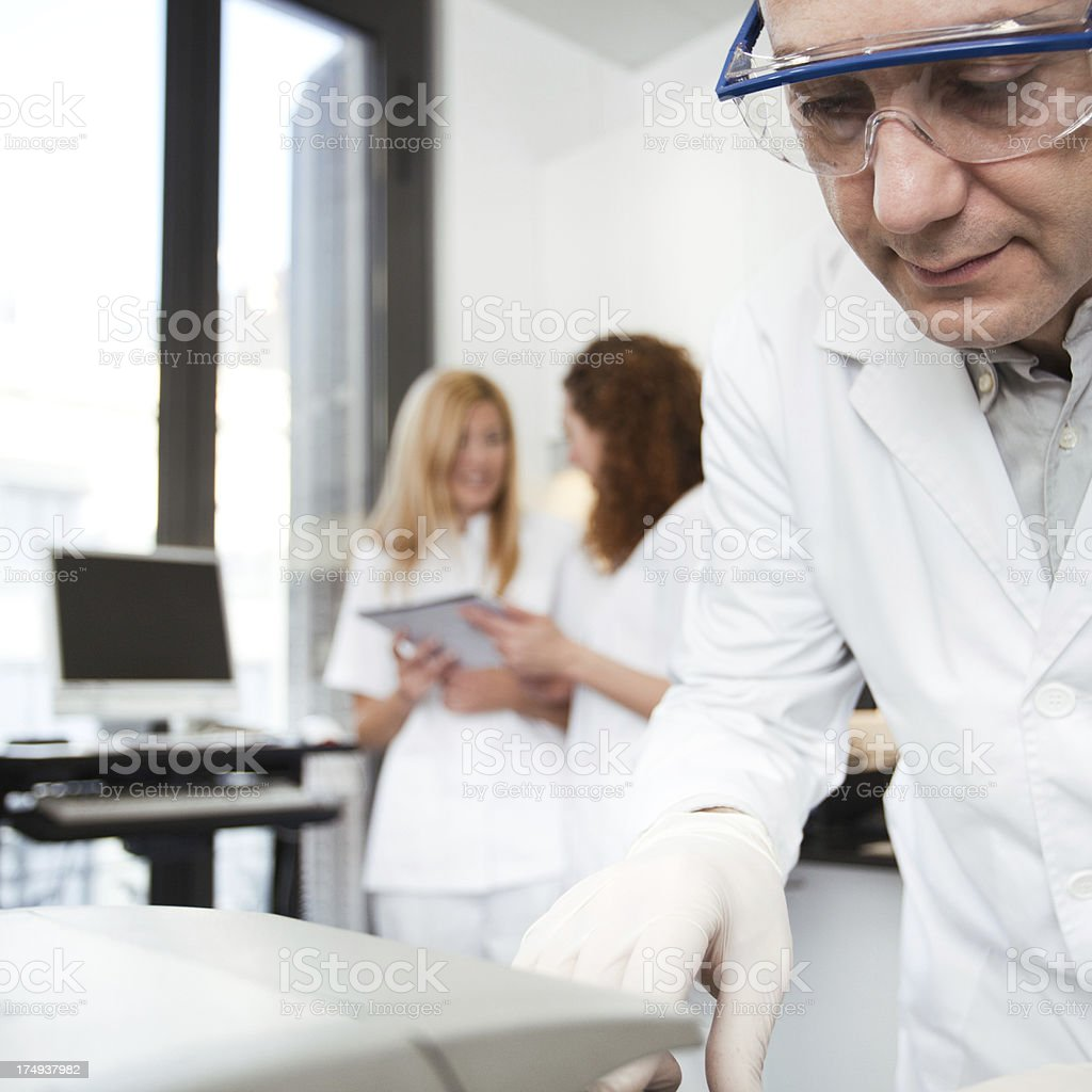 Laboratory technician at work. royalty-free stock photo