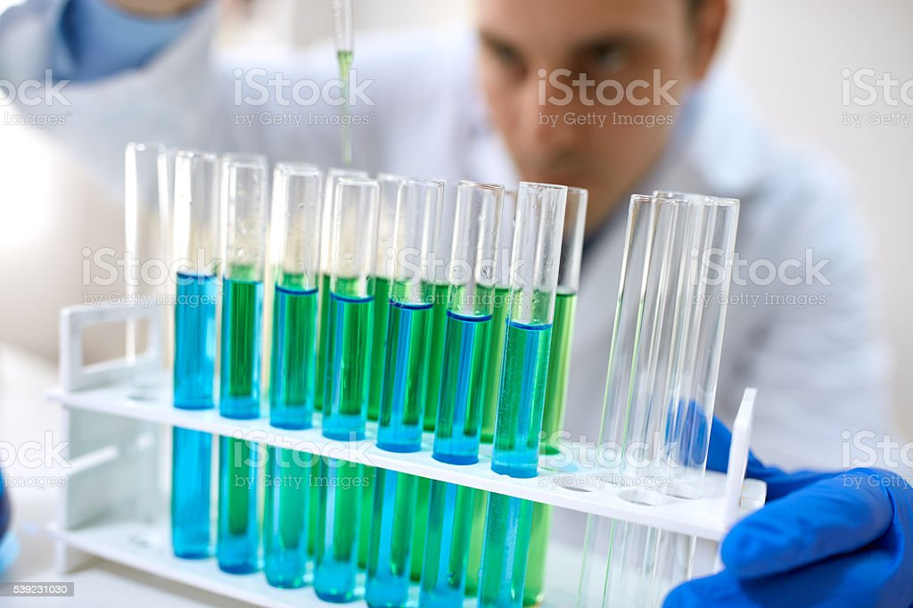Laboratory test tubes for experiment royalty-free stock photo