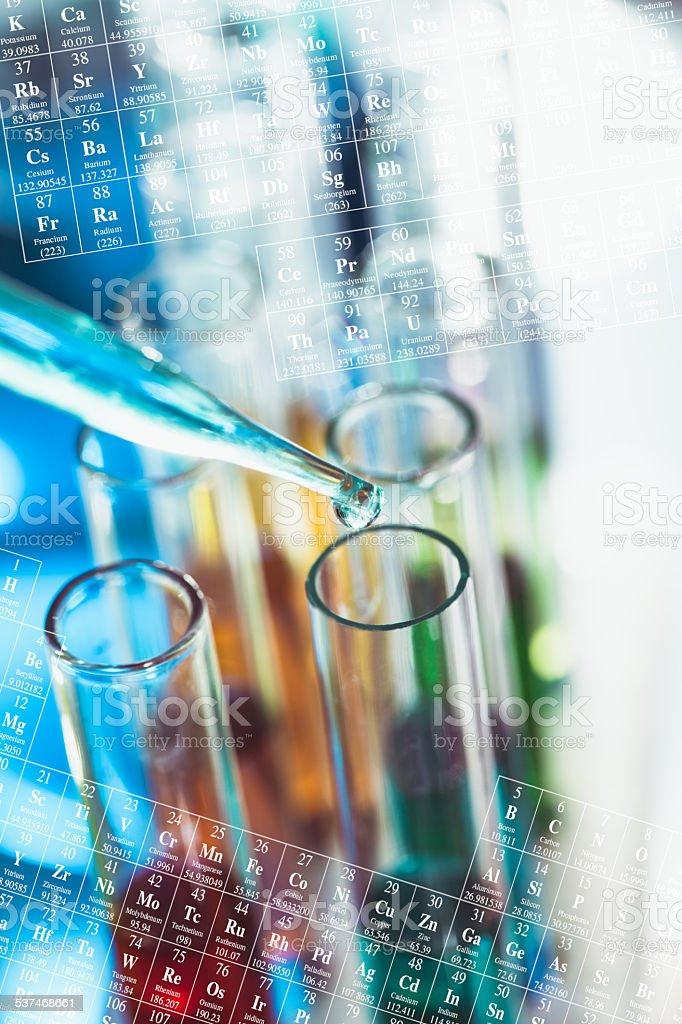 Laboratory tubes stock photo