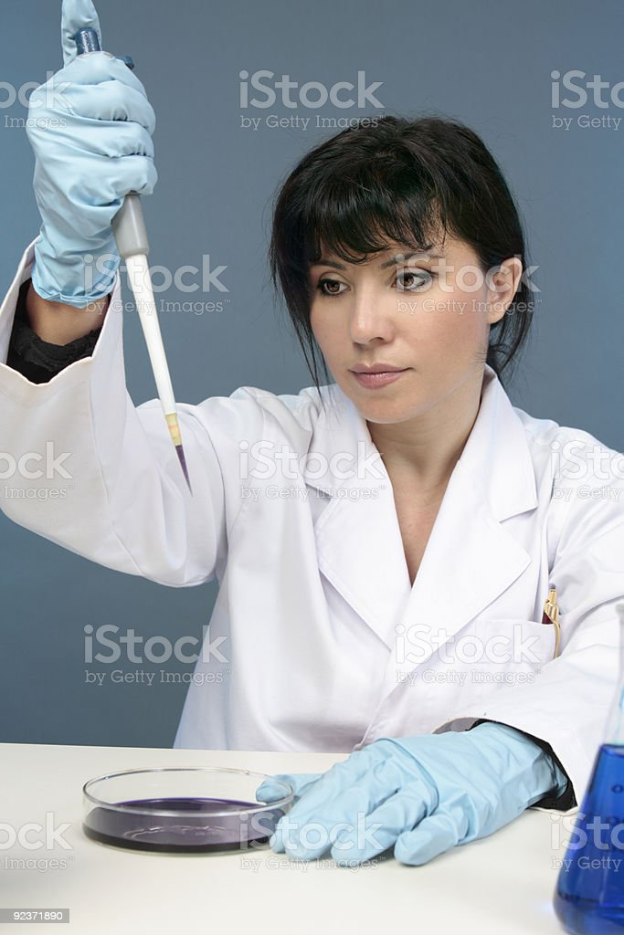 Laboratory worker royalty-free stock photo