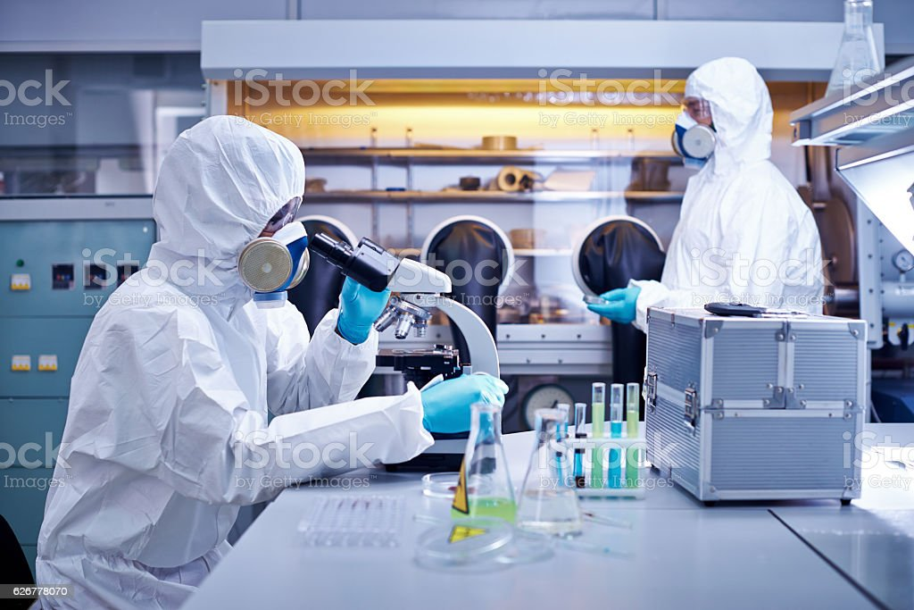 Laboratory workers stock photo