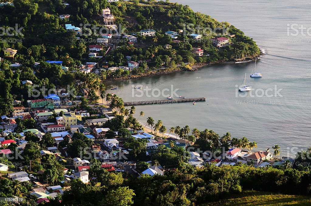 Laborie Bay And Jetty St Lucia Stock Photo - Download Image Now - iStock