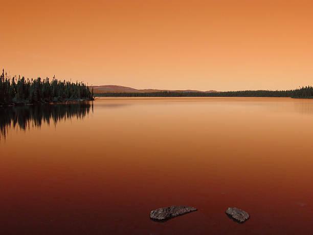 Labrador Sunset stock photo