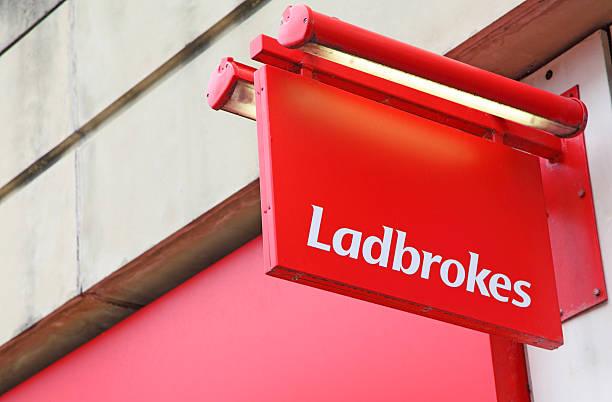 Labrokes betting shop stock photo