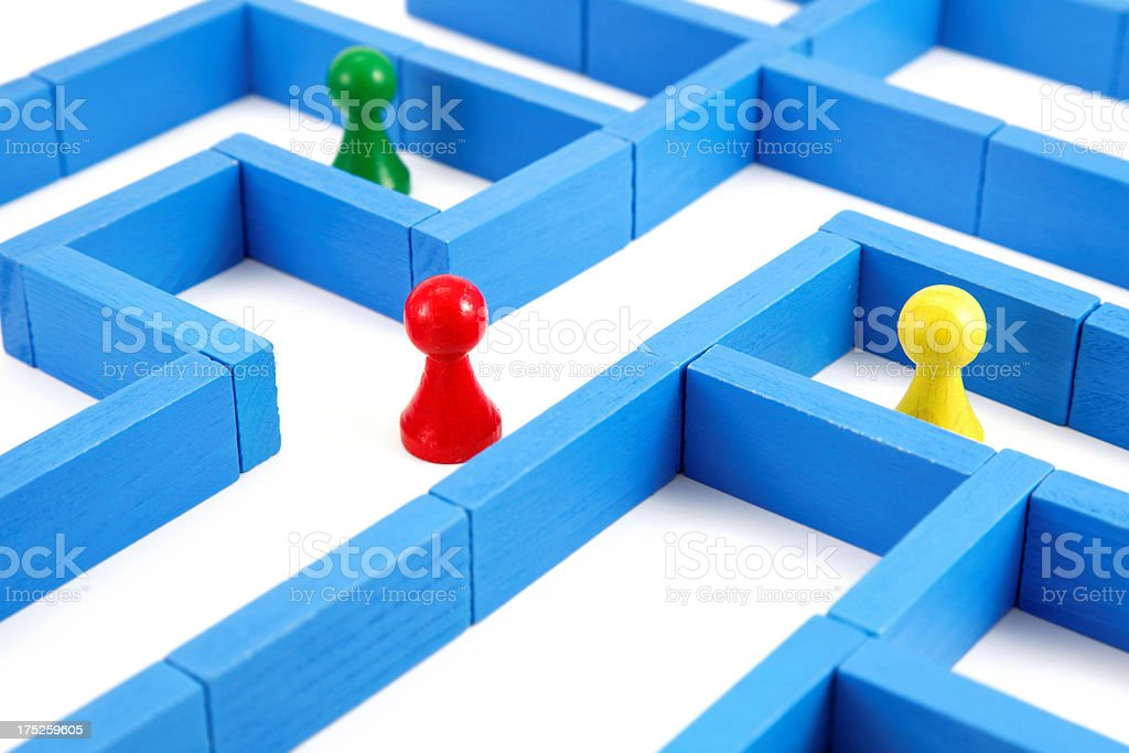 labyrinth concept royalty-free stock photo
