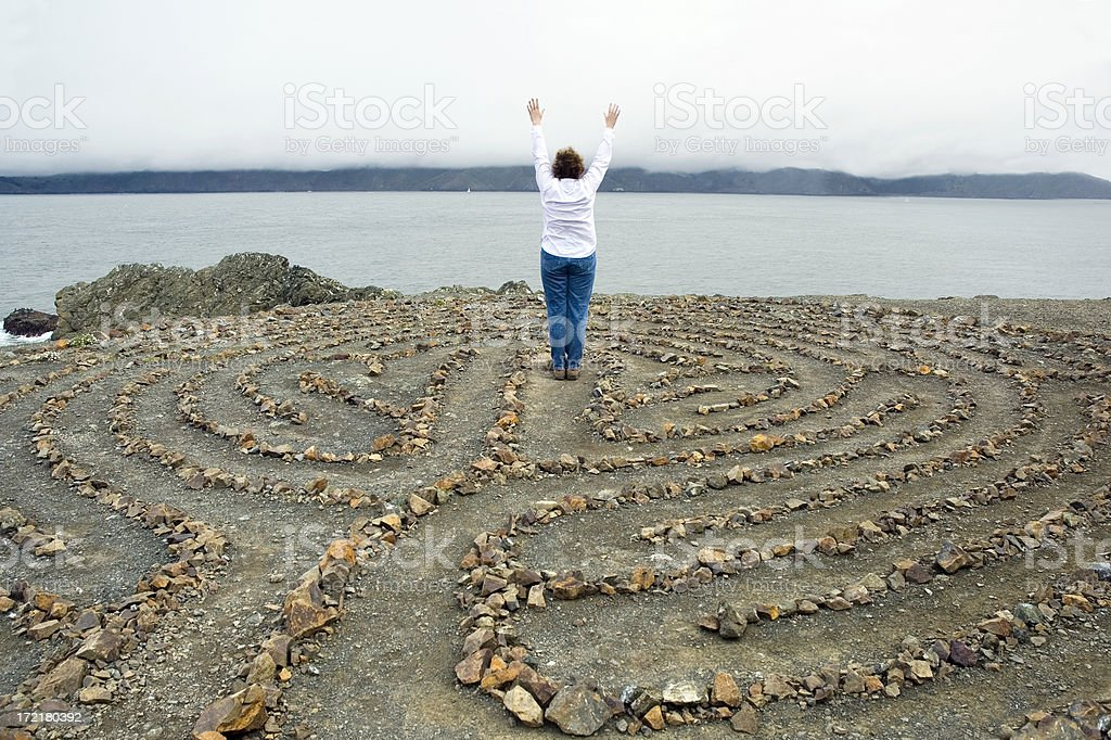 Labyrinth Meditation stock photo