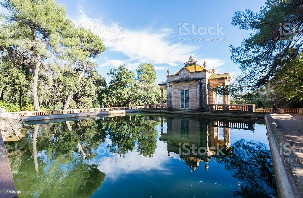 Labyrinth Park Gardens of Horta, Barcelona, Spain stock photo